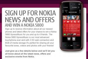 Win a Nokia 5800 XpressMusic!