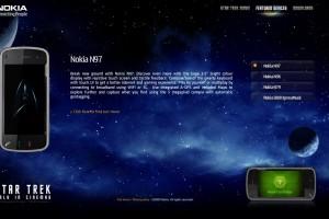 Nokia Star Trek Micro Site