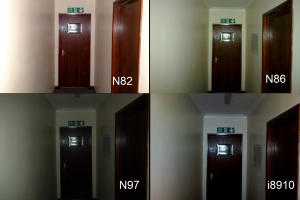 Camera flash test: Nokia N86 vs Nokia N82 vs Nokia N97 vs Samsung i8910