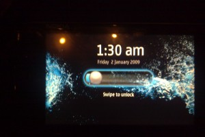 Video: Nokia N900 Swipe to Unlock