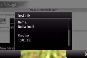 HTML EMAIL finally on your Nokia with Nokia Messaging 10.1.0.13 (shown on Nokia N97)