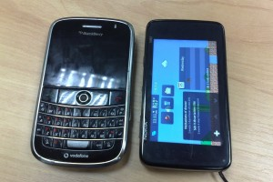 Nokia N900 with the Apple iPhone, BlackBerry Bold/Storm 2, LG BL-40, Nokia N97 Mini/N86/5800/E71, Palm Pre, Samsung i8910/Omnia II, Sony Ericsson Satio/Aino and Toshiba TG01