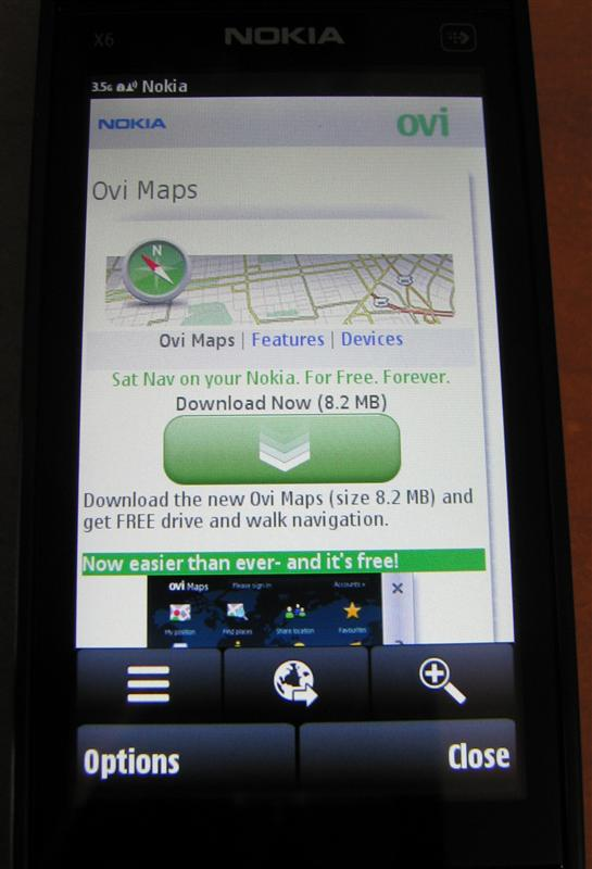Ovi Maps – Download Page