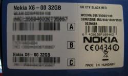 Nokia X6 - Box