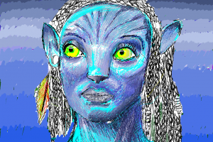 Avatar on the N900 Sketch App (Sketching on N900)