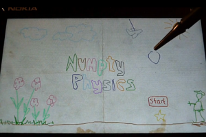 Video: Numpty Physics on the N900 – Incredible interactive drawing puzzle game