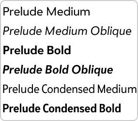 pre-prelude-font