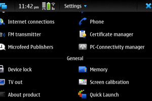 Quick Launch any four Nokia N900 Maemo 5 apps from the status bar!