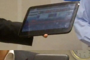 New sleek black WiMAX MeeGo tablet demonstrated by Dmitriy Konash