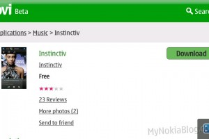 Gallery &amp; Video: Portait Music Player &quot;Instinctiv&quot; free on the Ovi Store &#8211; What Nokia Music player should be
