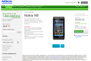 Nokia N8 pre-orders live in the US