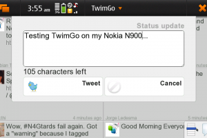 TwimGo – a new Qt based twitter client for Nokia N900