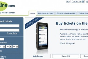 Nokia N8 showcased on thetrainline.com's coming soon mobile app! (Android ignored)