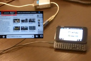 Video: Nokia N900 Connecting via Ethernet cable and USB-RJ45 adapter