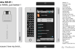 "My Dream Nokia #3: Nokia N9-01 MeeGo Phone concept 12MP, CBD 4.1"" 1280x720x32, 64gb, Dual Core 1GHz"