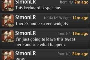 Tweets Sent from Nokia N9 and Nokia N9 Widget?
