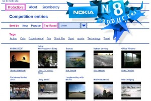Videos: Nokia N8 Productions entrants Showcase!