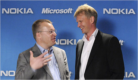 Microsoft and Nokia in talks about a partnership