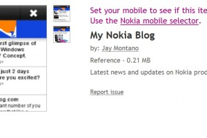 MyNokiaBlog.com App Free on Ovi Store (made by Alan with Ovi App Wizard)