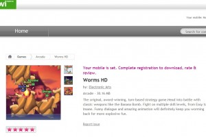 Worms HD available at Ovi Store for Symbian^3
