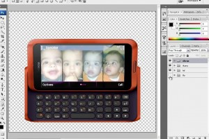 Making a Nokia E7 from scratch – Photoshop painting tutorial of Nokia E7