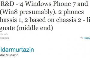 Eldar: 4 Windows Phone 7 Nokia Phones in R&D + 1 tablet