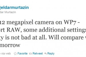 "12MP Windows Phone supporting RAW – ""Quality is not bad at all"" – Murtazin"