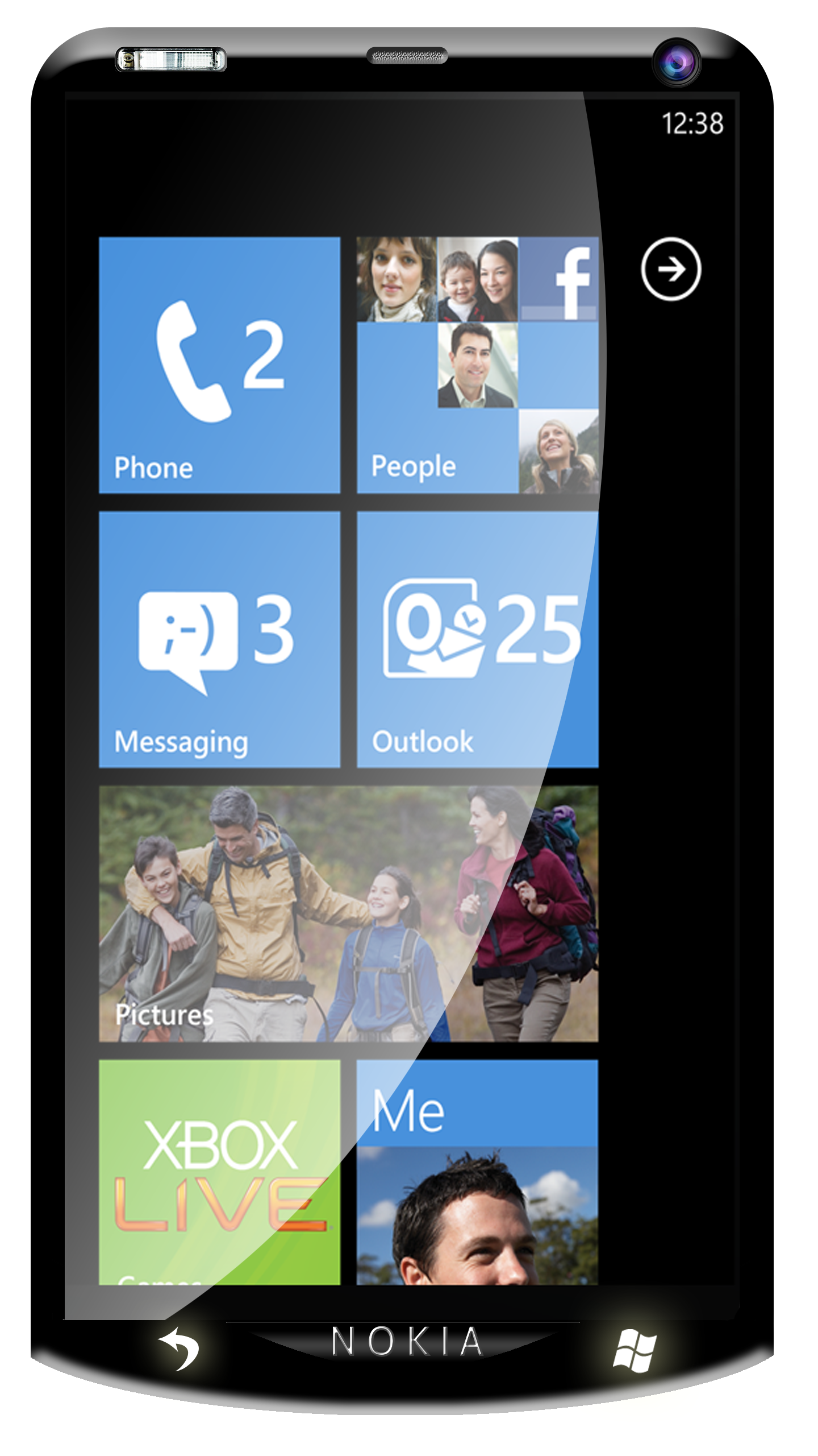 Nokia W10 Windows Phone 7.5 Front1