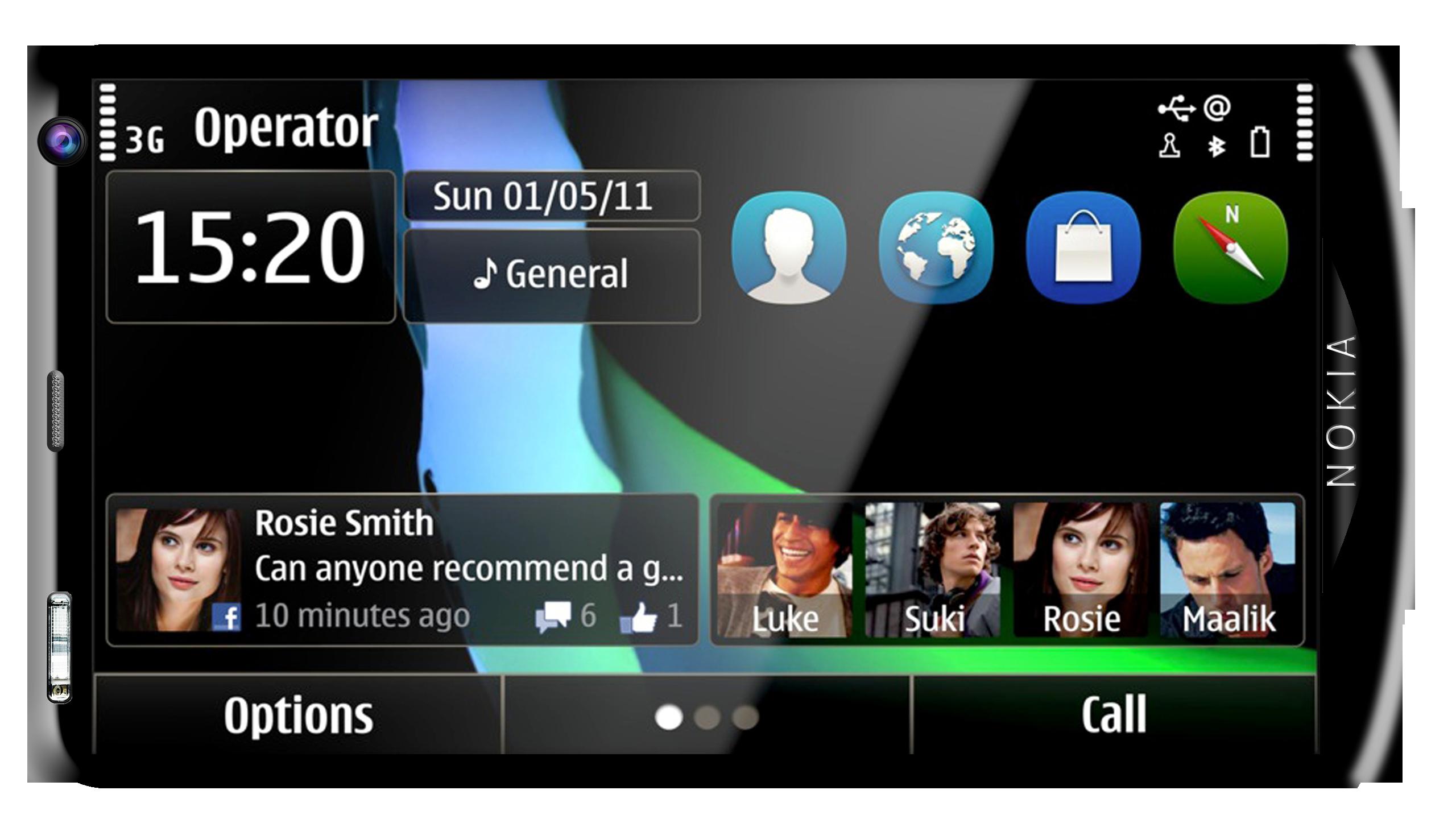Nokia X10 Symbian Anna Front3