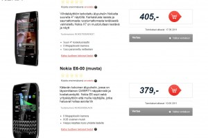 Finnish retailer puts E6 for 379EUR and X7 for 405EUR, delivery June 10/17th.