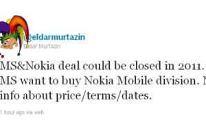 Comedy &#8216;rumour&#8217; hour: Murtazin to say MS will buy Nokia this year