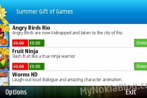 Ovi Store Summer Gift of Games! 20 yellow ribbon premium games for free – download ALL from one app!