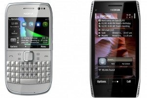 "Nokia E6 and Nokia X7, first Symbian Anna phones, now shipping. Symbian Anna ""in the coming months""."