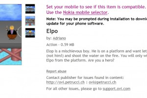 "Burning Platform game, ""Elpo"" available at Ovi Store"