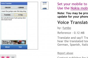 Voice Translate Pro – translate and say – Free at Ovi Store for devices supporting Qt