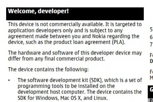 Nokia N950 Manual – Welcome, developer! #MeeGo #Harmattan