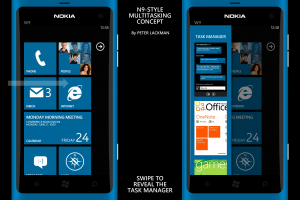 Nokia Windows Phone 7 UI Concept: N9-style multitasking