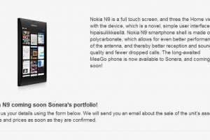 Nokia N9 coming soon? (Well, to Sonera&#8217;s portfolio, whatever &#8216;soon&#8217; means)