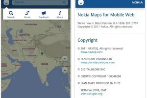 Nokia Maps updated and optimized for Mobile Web, in HTML5, looks like an app (demoed on Android/iOS)