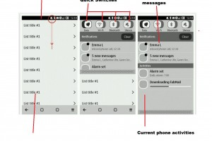 Symbian Belle drop down status bar – Belle looking MeeGo-Harmattan 'swipe' like.(Update)