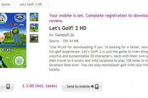 Let&#8217;s Golf! 2 HD available at Ovi Store #Gameloft 159MB