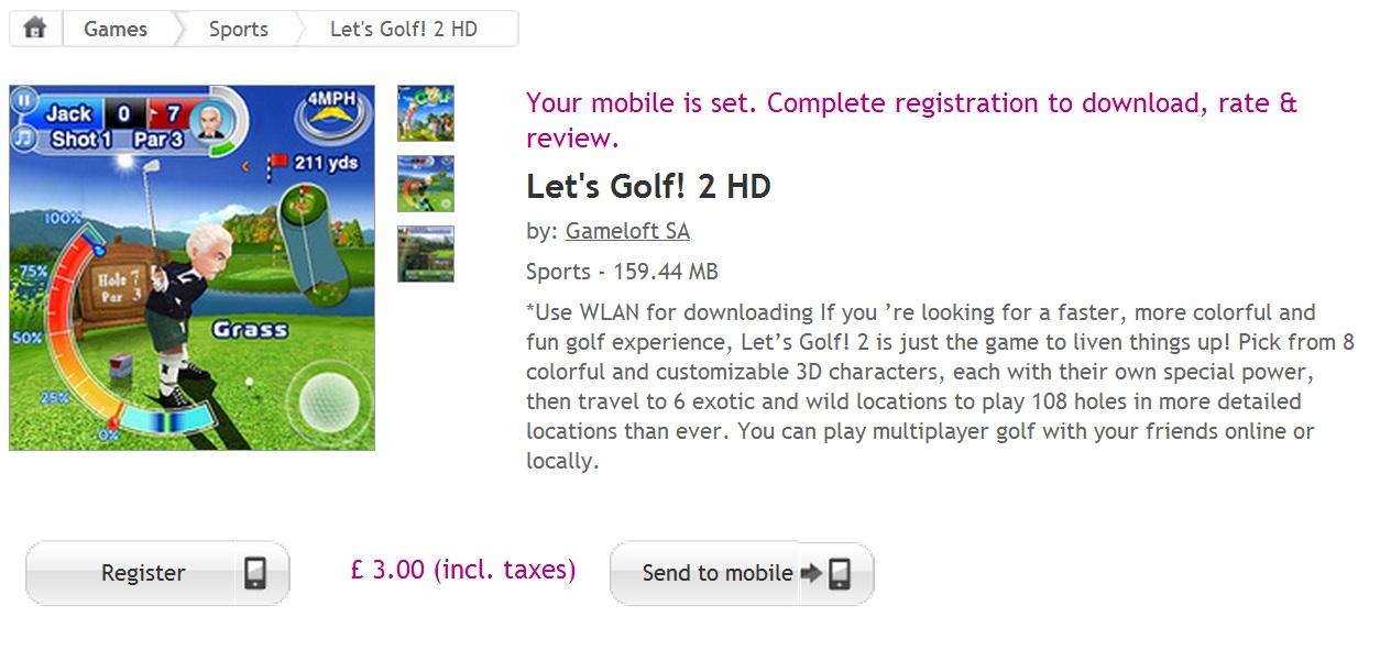 Gameloft lets golf 2 hd v1.000 symbian^3 signed.sis