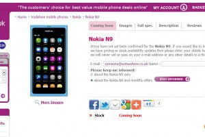 Nokia N9 at Carphone Warehouse&#8217;s Mobiles.co.uk store
