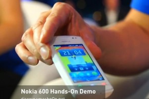 Video: Nokia 600 FM Radio (without headphones) demoed