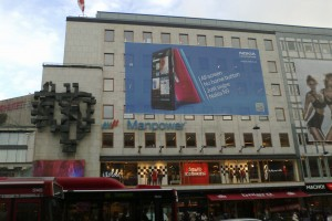 Huge N9 Advert in Central Stockholm