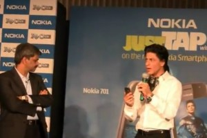 Video: Shahrukh Khan Launches Nokia 600, 700 and 701 at Bandra, India (where Nokia is no longer top brand)