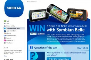 Win a Symbian Belle device (one to win for 20 days)