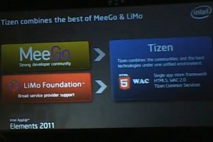 Video: Intel App Elements keynote, Tizen and HTML5. -_-