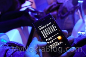 Nokia Lumia 800 Battery Saver mode