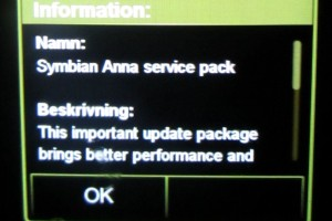 Symbian Anna optional Service Pack Update, brings improved performance